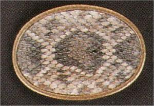 Rattlesnake skin inlay Belt Buckle - Tombstone, AZ