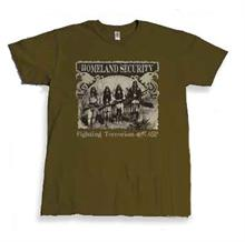 Homeland Security Eagles T-shirt from Tombstone, AZ features four Native American Indians