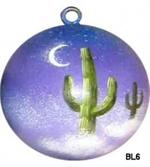 Dreamtime Saguaro ceramic ball ornament makes a great housewarming, wedding or friendship gift. Neautral design allows year round use for decorating.