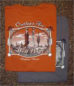 Outlaws are well hung t-shrit is 100% cotton from Tombstone, AZ