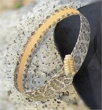 Rattlesnake skin hatband from Tombstone, Arizona