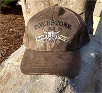 Embroidered cap with cow skull and Tombstone, AZ Tough Enough on front.